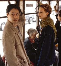 Keanu Reeves and Charlize Theron in Sweet November