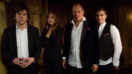Jesse Eisenberg, Isla Fisher, Woody Harrelson, and Dave Franco in Now You See Me