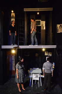 Kelly Lohrenz and Michael Ross Tallon (top floor), and Sara King and Steve Lasiter (bottom floor) in Next to Normal