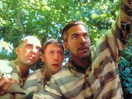 John Turturro, Tim Blake Nelson, and George Clooney in O Brother, Where Art Thou?