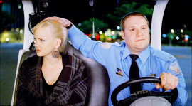 Anna Faris and Seth Rogen in Observe & Report