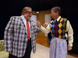 John VanDeWoestyne and Greg Cripple in The Odd Couple
