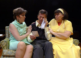 Jackie Patterson, Greg Cripple, and Jackie Skiles in The Odd Couple