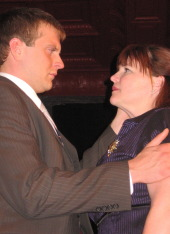 Eddie Staver III and Denise Yoder in Oedipus Rex