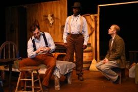 Cody Johnson, Joseph Obleton, and Jonathan Grafft in Of Mice & Men