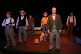Aaron Lord, Greg Boulijon, Alex Richardson, Chris Zayner, Johathan Grafft, and Cody Johnson in Of Mice & Men