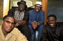 D.L. Hughley, Cedric the Entertainer, Steve Harvey, and Bernie Mac in The Original Kings of Comedy
