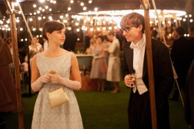 Felicity Jones and Eddie Redmayne in The Theory of Everything