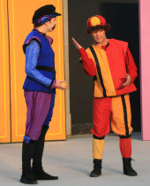 Neil Friberg and Jonathan Gregoire in The Comedy of Errors