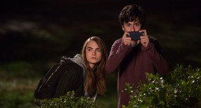 Cara Delevingne and Nat Wolff in Paper Towns