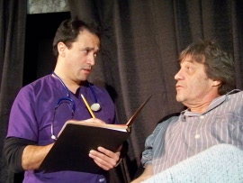 Pat Flaherty (right), with Jason Platt in Angels in America Perestroika