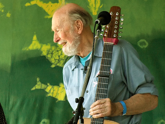 Pete Seeger at the Clearwater Festival 2007. Photo by Anthony Pepitone.