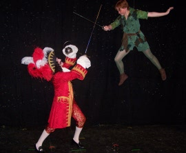 Tom Walljasper and Brittany Church in Peter Pan
