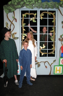 Spencer Clark, Nelson Lindmark, Autumn Loose, and Sarah Lounsberry in Peter Pan
