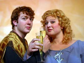 Ryan Westwood and Emily Kurash in Pippin