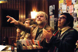 Philip Seymour Hoffman and Nick Frost in Pirate Radio