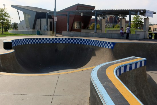 The Davenport Skatepark. Photo by Bruce Walters.
