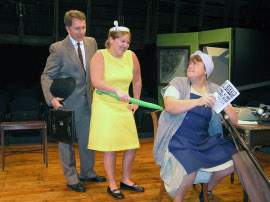 Thom May, Cara DeMarlie, and Jackie Skiles in Busybody