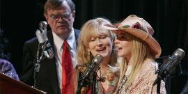 Garrison Keillor, Meryl Streep, and Lindsay Lohan in A Prairie Home Companion