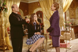 Larry Miller, Anne Hathaway, and Julie Andrews in The Princess Diaries