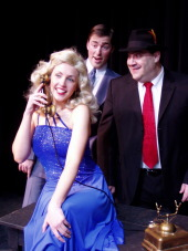 Erika Thomas, Nathan Bates, and Bruce Carmen in The Producers