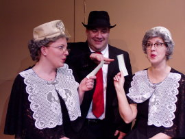 Sheri Hess, Bruce Carmen, and Valeree Pieper in The Producers