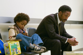 Jaden and Will Smith in The Pursuit of Happyness