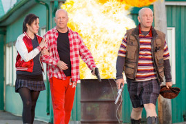 Mary-Louise Parker, Bruce Willis, and John Malkovich in RED 2