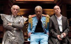 John Malkovich, Morgan Freeman, and Bruce Willis in RED