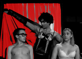 James Bleecker, Steve Lasiter, and Cari Dowling in The Rocky Horror Show