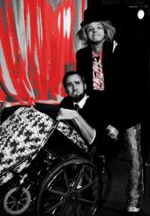 Chris Walljasper and Tristan Tapscott in The Rocky Horror Show