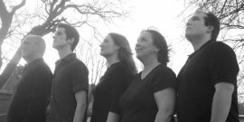 Patrick Gimm, Bryan J Tank, Allison Collins Elfline, Jackie Madunic, and Dana Joel Nicholson in Elegies A Song Cycle