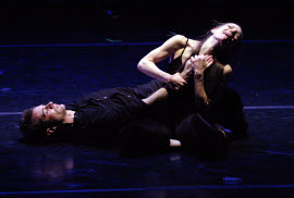 Jake Lyon and Iona Newell in Romeo and Juliest in the 21st Century
