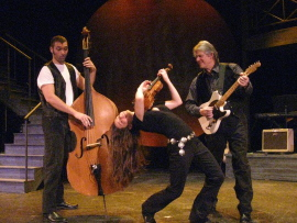 Justin Droegemueller, Amberly Rosen, and Buddy Olson in Ring of Fire