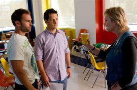Seann William Scott, Paul Rudd, and Jane Lynch in Role Models