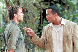 Seann William Scott and The Rock in The Rundown