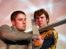 Ryan Westwood (right), with Jeremy Pack, in Pippin