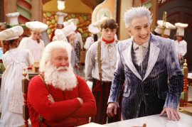 Tim Allen, Spencer Breslin, and Martin Short in The Santa Clause 3: The Escape Clause