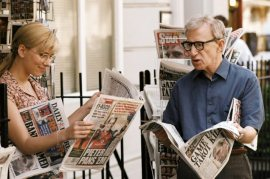 Scarlett Johansson and Woody Allen in Scoop