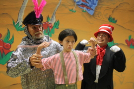 Michael Schmidt, Emily Baker, and Eric Reyes in Seussical