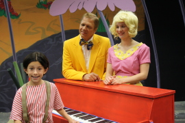 Emily Baker, Kevin Pieper, and Katie Casey in Seussical