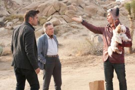 Colin Farrell, Christopher Walken, and Sam Rockwell in Seven Psychopaths
