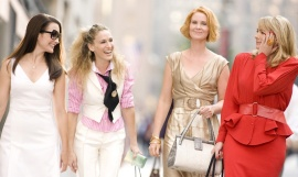 Kristin Davis, Sarah Jessica Parker, Cynthia Nixon, and Kim Cattrall in Sex & the City