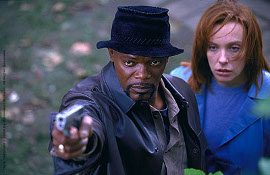 Samuel L. Jackson and Toni Collette in Shaft