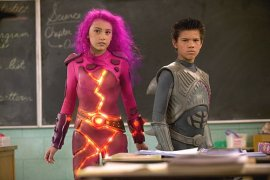 Taylor Dooley and Taylor Lautner in The Adventures of Shark Boy & Lava Girl 3-D