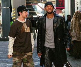 Shia LaBeouf and Will Smith in I, Robot