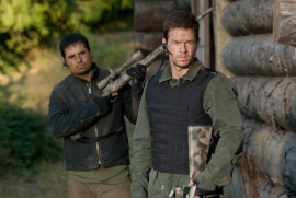 Michael Pena and Mark Wahlberg in Shooter