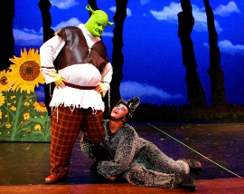 Brian Peterson and Matthew McFate in Shrek: The Musical