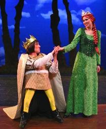 Matthew Dirschel and Melissa Anderson Clark in Shrek: The Musical