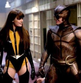 Malin Akerman and Patrick Wilson in Watchmen